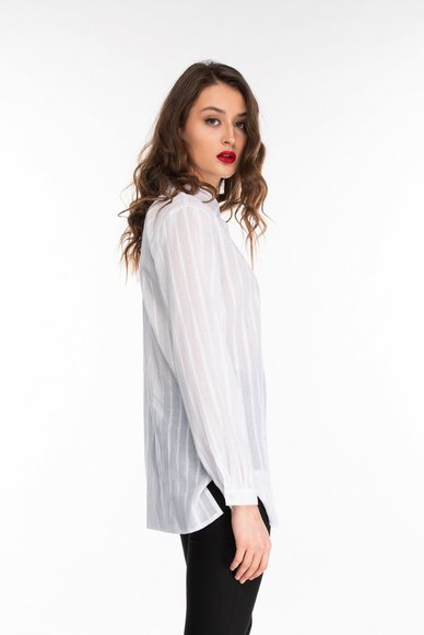 White Lurex Blouse