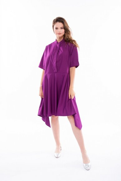 Purple dress with free cut