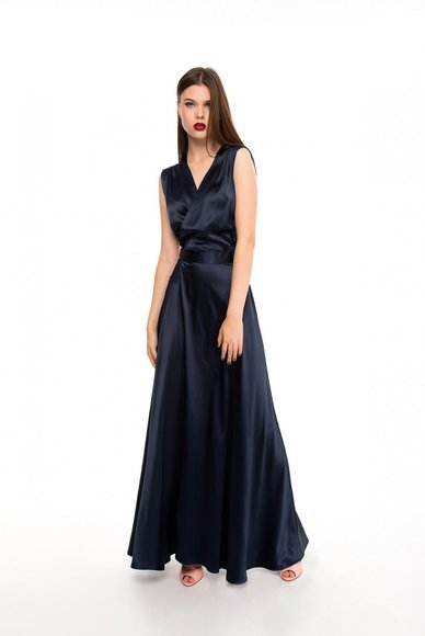 Evening dark blue dress