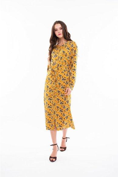 Yellow dress shirt in flowers mightylinksfo