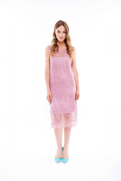 Pink lace dress, 2 in 1