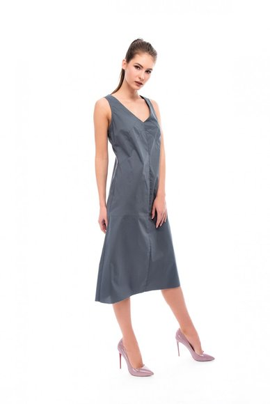 Dark gray dress