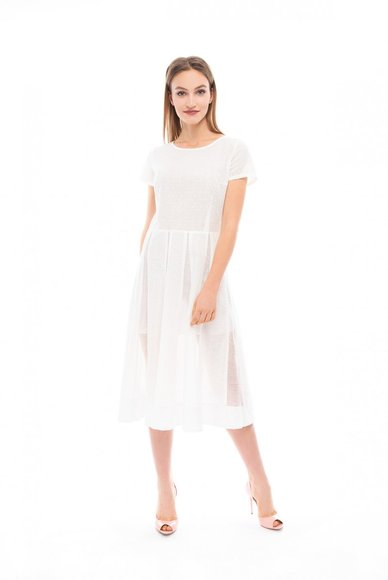 White lightweight blend dress