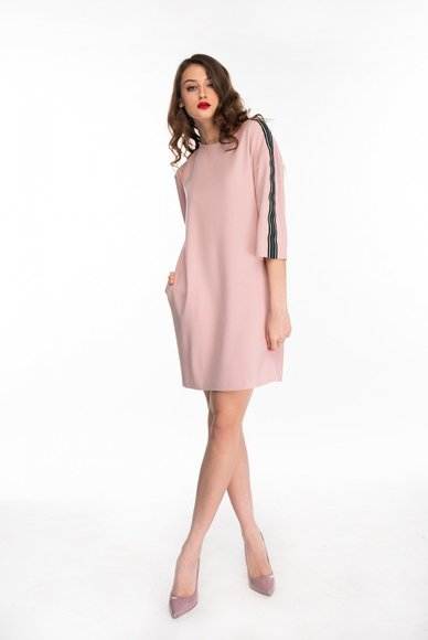 Pink dress straight cut