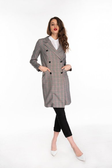 Checked dress jacket
