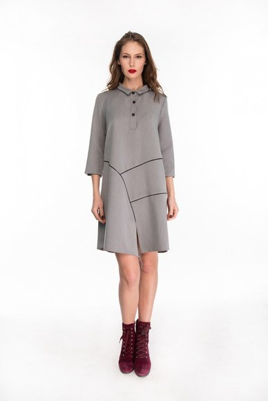 Gray dress free cut