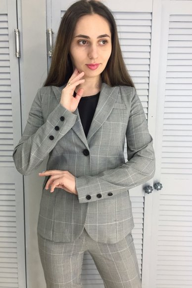 Gray Checked Jacket