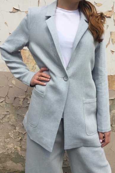 Light blue jacket with lurex