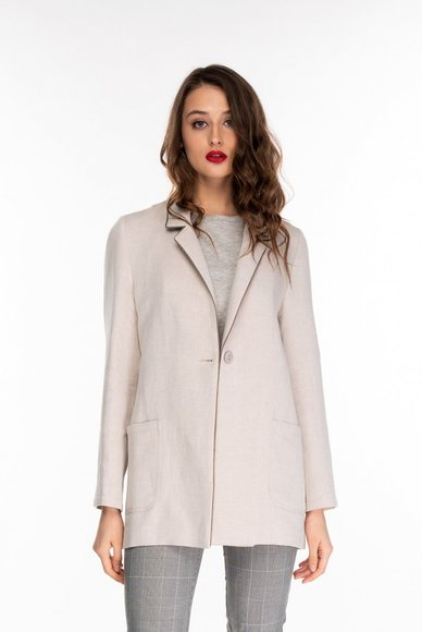 Beige jacket with lurex