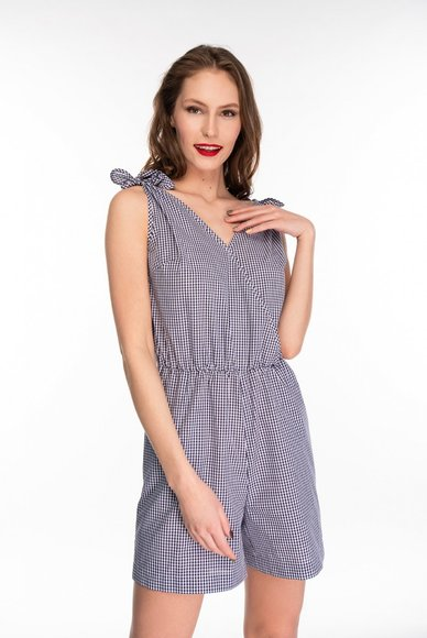 Light checkered jumpsuit