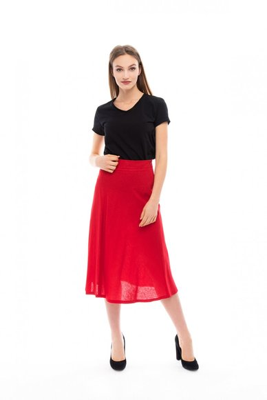 Light red skirt