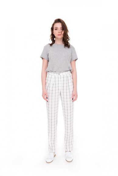 White check trousers