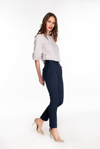 Dark blue pants with arrows