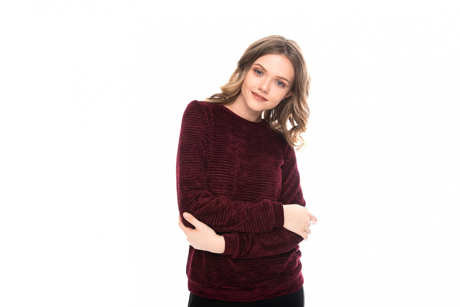 Wine-colored jumper